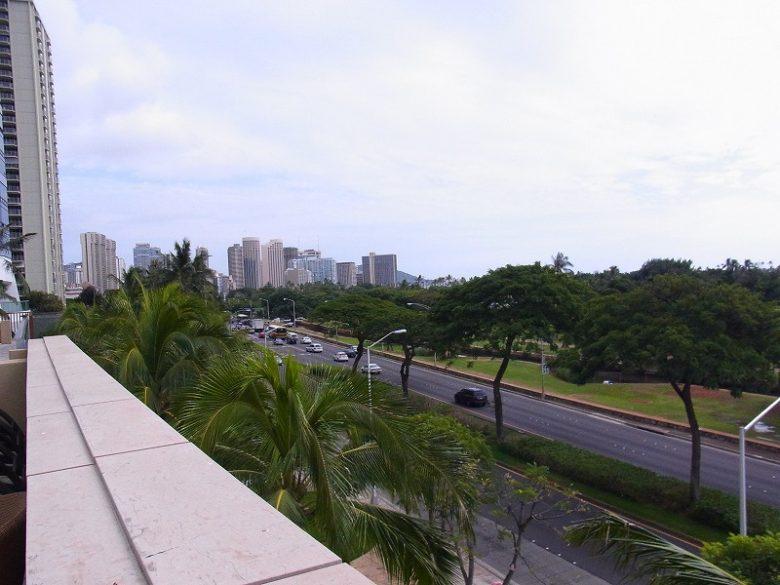 ホクアからアラモアナビーチパークの眺め