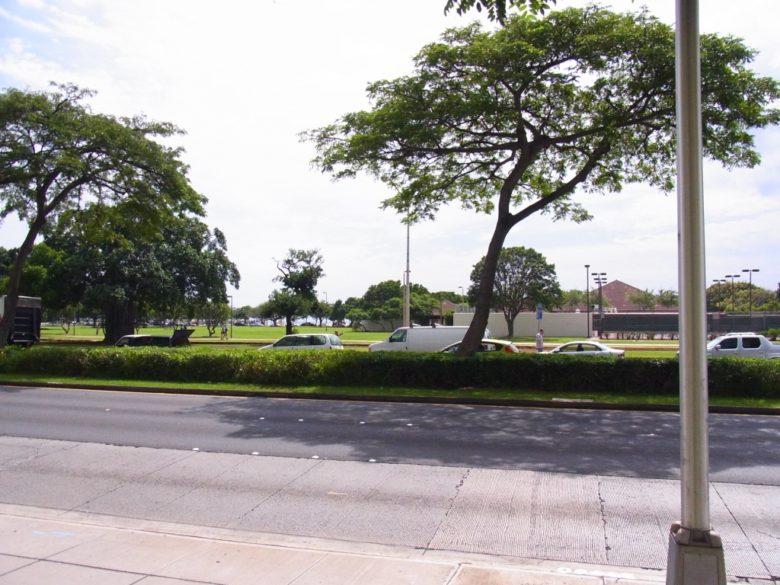 ホクアの前はアラモアナビーチパーク