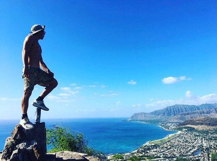 普段着サーフパンツでハイキング